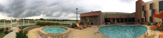 Skiatook, OK: Panorama view on patio.