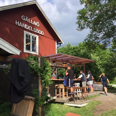 Uppsala County, Σουηδία: The bar not far from the hotel/hostel