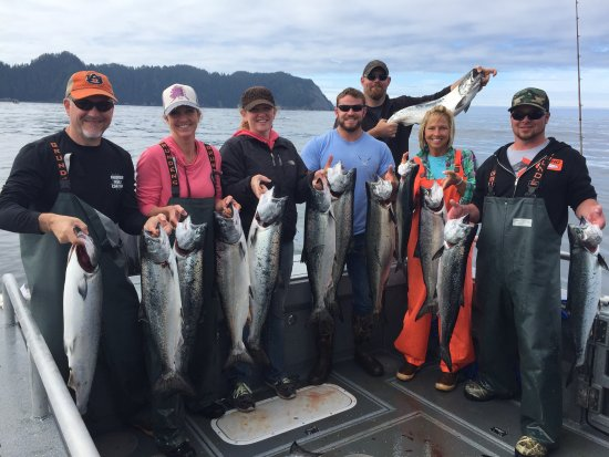 Craig, อลาสกา: Omg!   We had a blast l, caught a ton of fish, hit our limits every day.   The staff and lodge w