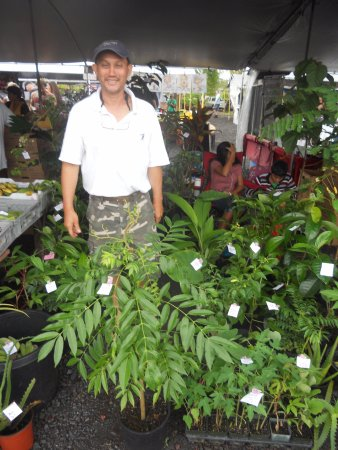 Pahoa, HI: one of the nice plant vendors that grows his own plants for sale