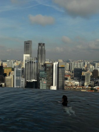 Infinity Pool At Top Of The Hotel Picture Of Marina Bay Sands