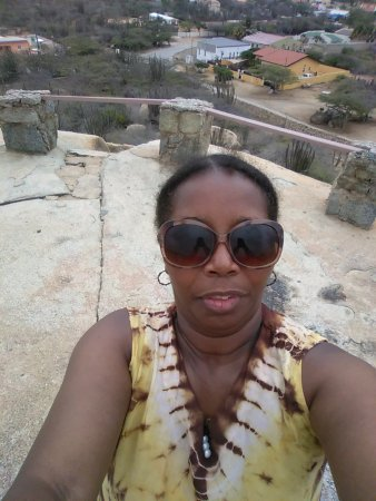 Ayo and Casibari Rock Formations: me on top of rock formation