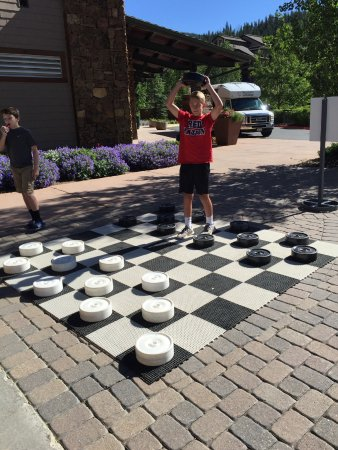 Winter Park Resort : Playing checkers in Winter Park Village