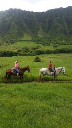 Kaneohe, Χαβάη: Enjoying the majestic mountains