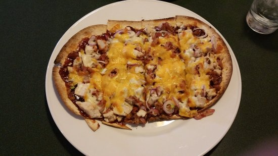 Saint Louis, MI: BBQ Chicken Flatbread Pizza at Francesco's Italian American Restaurant