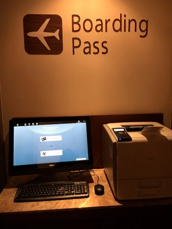 Trump Ocean Club International Hotel & Tower Panama: the boarding pass kiosk