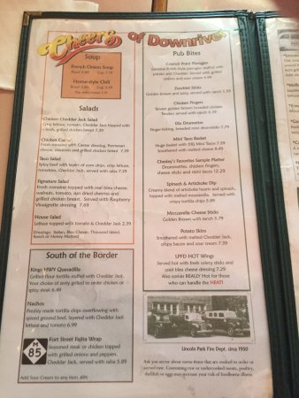 Chesley's: Menu