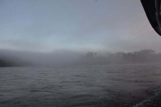 Tambopata Research Center: View from the boat on the way back on a chilly morning!
