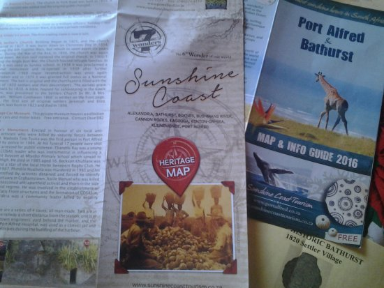 Port Alfred, Sudáfrica: Useful pamphlets!