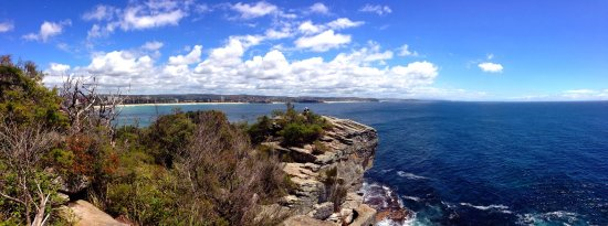 North Head Sanctuary: From North Head looking back at The Northern Beaches