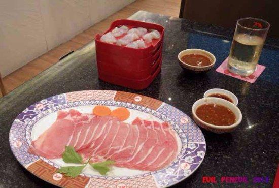MK Restaurants - CentralFestival Pattaya Beach: Ingredients for the hot pot.