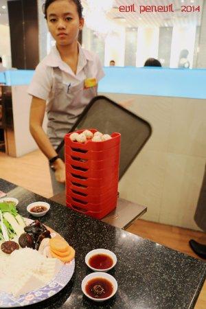 MK Restaurants - CentralFestival Pattaya Beach: Stacks of ingredients