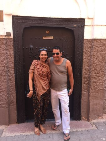 Riad du Petit Prince: My friend with the hotel manager Adil outside the riad