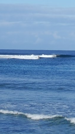 Eratap Beach Resort: Guests surfing off Eratap