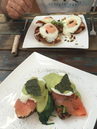 Boonah, Australia: Eggs Benny with Salmon