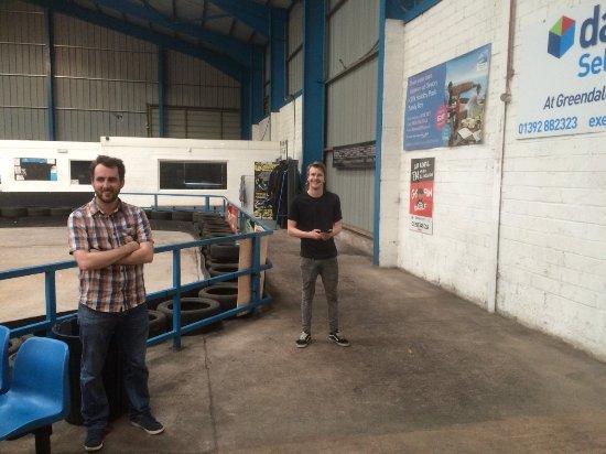 Raceworld Ltd: Colin and our host Ben