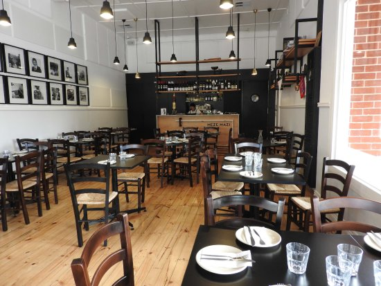 a small restaurant but with room to move smart stylish and