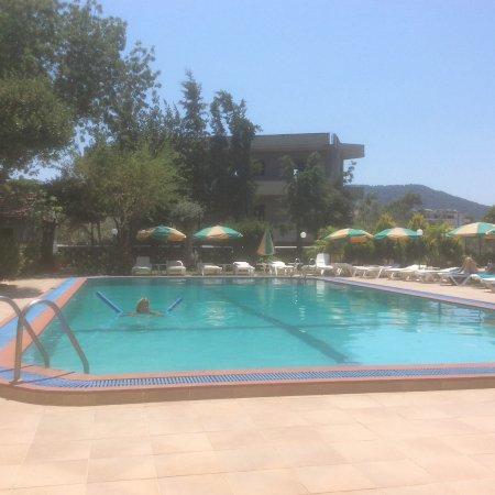 Hotel Terinikos: Zwembad met gratis ligbedjes en parasols