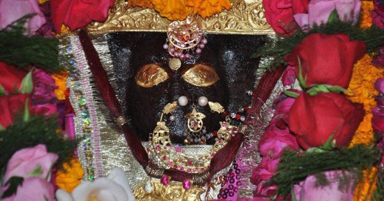 Jammu City, India: The black stone image of Ma Bhav taarini Mahakali
