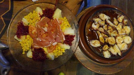 Huetor Vega, İspanya: La ensalada está buena; el pulpo, muy flojo-