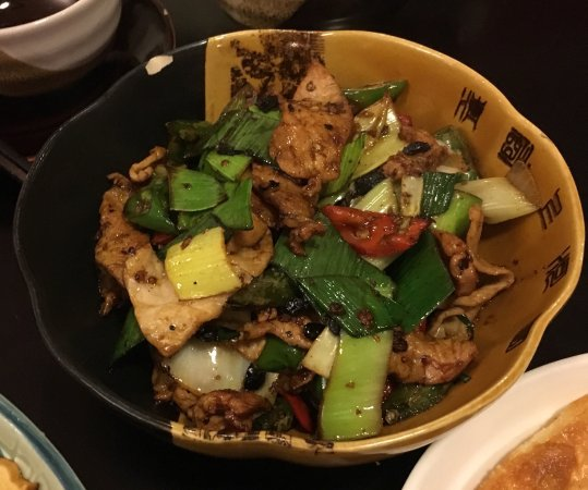 Kensington, Australien: Hunan style stir fried pork with chilli and fresh vegatables