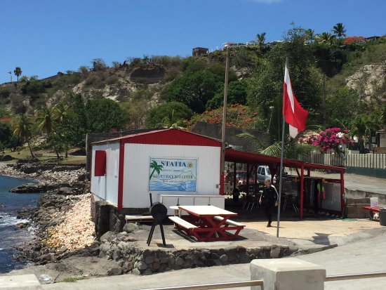 San Eustaquio: Tiny, but perfect in every respect, we came to love this dive shop that treated nature supremely