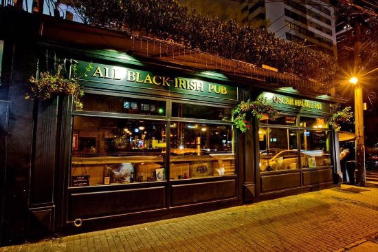 All Black Irish Pub