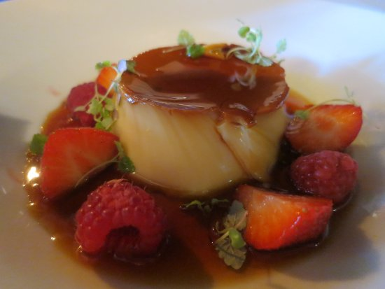 The Chequers Inn at Well: Vanilla Creme Caramel