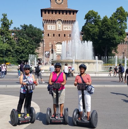 Italy Segway Tours - Milan : My sisters and I on the Milan Segway Tour. Had a blast!