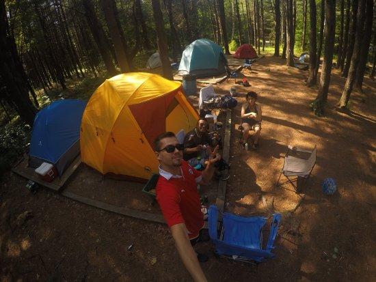 Grenville-sur-la-Rouge, Kanada: Our 24 people camping space. SICK!