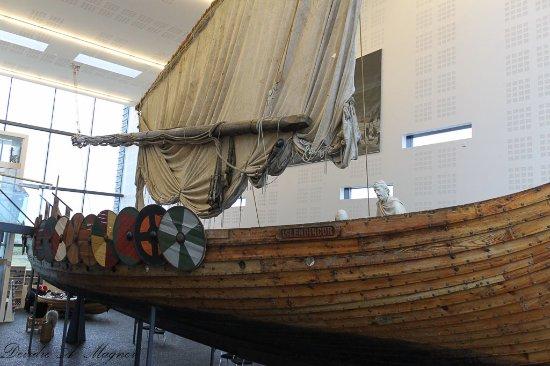 Viking World: The Icelander, a replica viking ship.