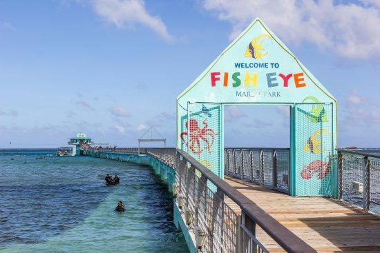 Piti, Mariana Islands: Entrance to Fish Eye Marine Park