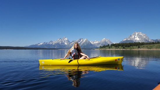 Black Bear Inn: Our daughter at Jackson Lake during our Big Trip Out West!