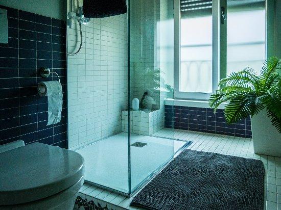 Porta Garibaldi Bed and Breakfast: large shower