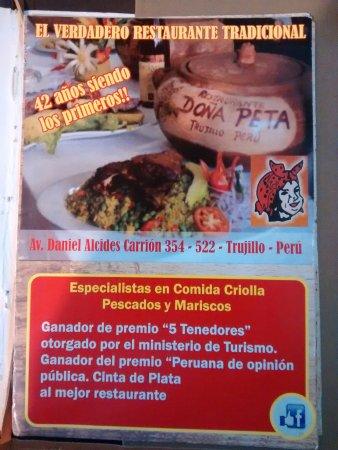 Doña Peta : Carta