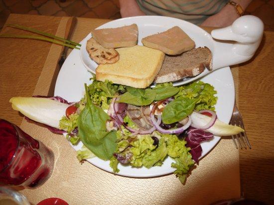Saint-Macaire, Francia: Le duo de foie gras et son chutney de figues