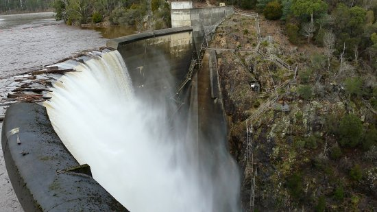 Barrington, Australia: The dam wall.