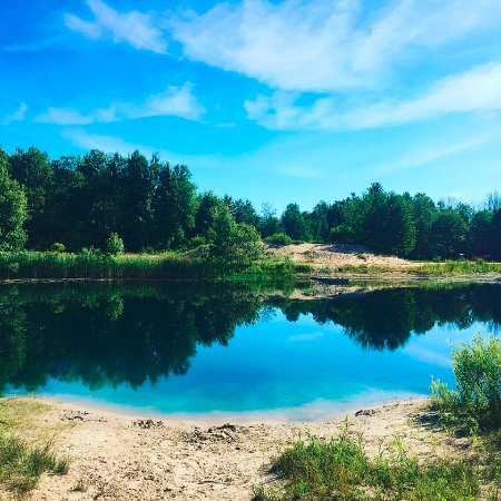Hesperia, MI: Small lake on site