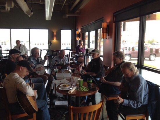 Lafayette, CO: The Windbreakers Acoustic Jam provides background music every Sat. from 11:30-3