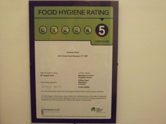 Strathdon Hotel : Food Hygiene Rating