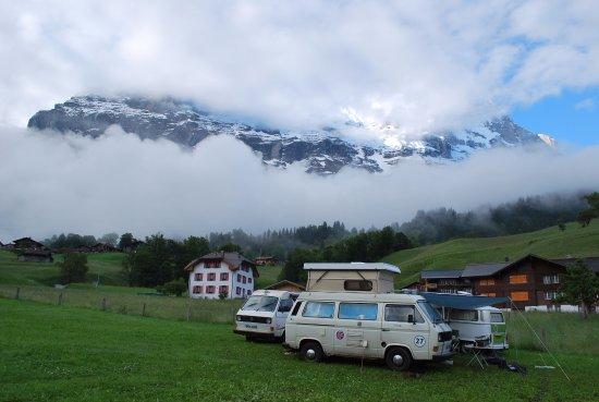 Camping Eigernordwand Bild