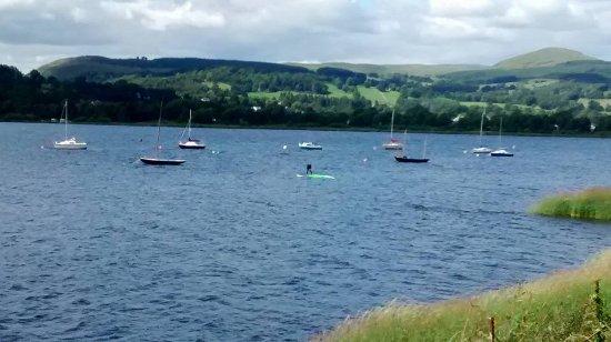 Llanuwchllyn, UK: Scenic view of Bala Lake