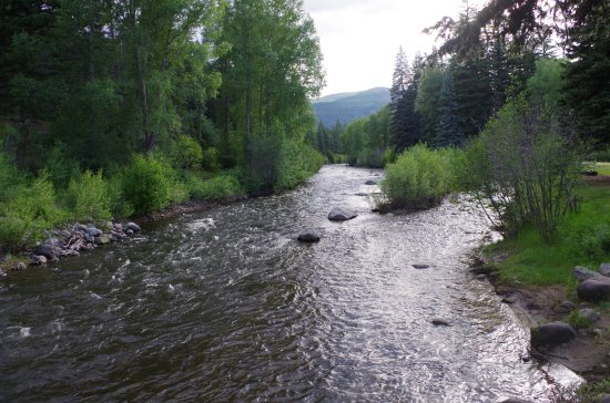 Shot of the South Fork of the Rio Grand that runs through Fun Valley