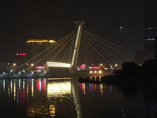 Ji County, China: Nice walking along the river.