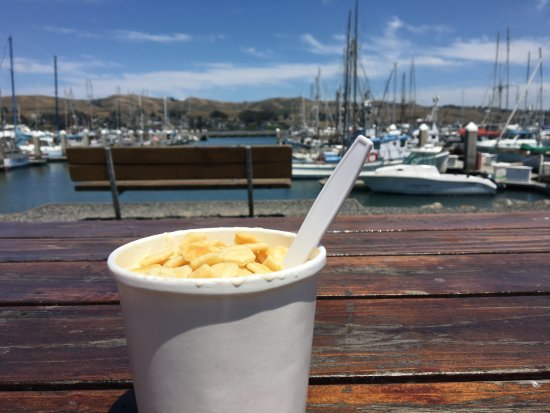 Spud Point Crab Company: Enjoyed some chowder at the picnic table across the street!