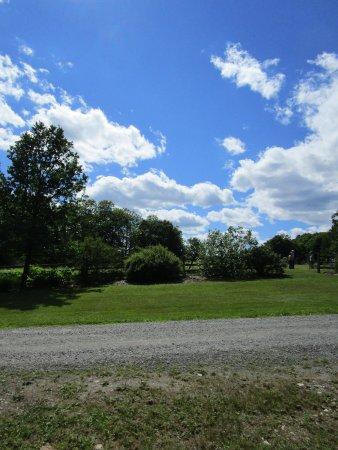 Walpole, NH: Sky over Distant Hill Garden
