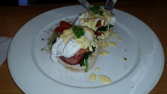 Huntly, Nowa Zelandia: eggs benedict was nicly prepared and nicly cooked