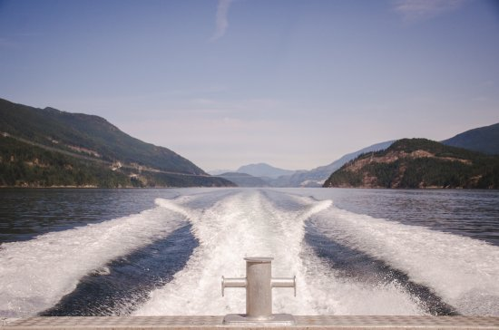 Sechelt, Καναδάς: stunning boat ride to and from resort included in all rates