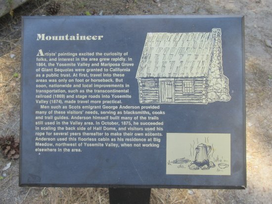 Wawona, CA: Mountaineer Plaque, Pioneer Yosemite History Center, Yosemite National Park, CA