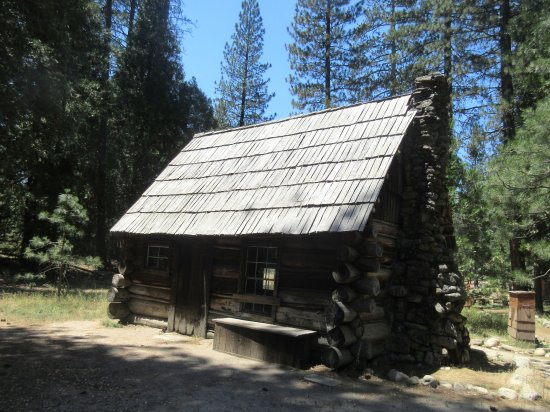 Wawona, CA: Mountaineer Cabin, Pioneer Yosemite History Center, Yosemite National Park, CA